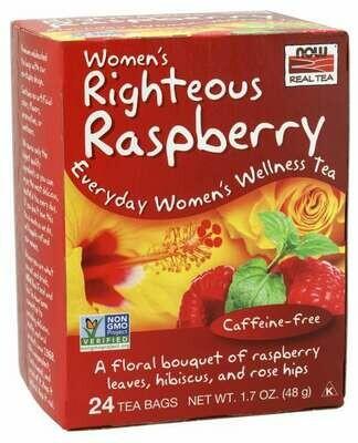 NOW Tea Righteous Raspberry 24ct
