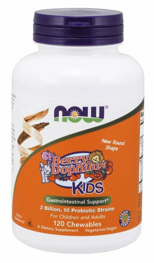 Now Berrydophilious Kids Probiotic 2BIL 120chew120