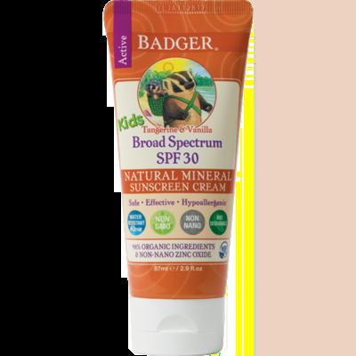 Badger Balm Kids Spf 30 Tangerine 2.9oz