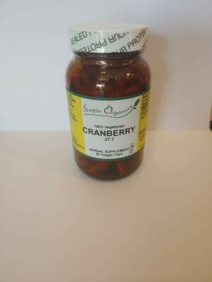 Simple Organics Cranberry 90cap