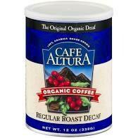 Cafe Altura Ground Regular Roast Decaf 12oz