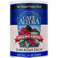 Cafe Altura Ground Dark Roast Decaf 12oz