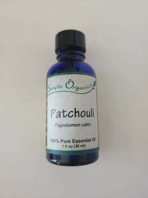 Simple Organics patchouli EO 1oz
