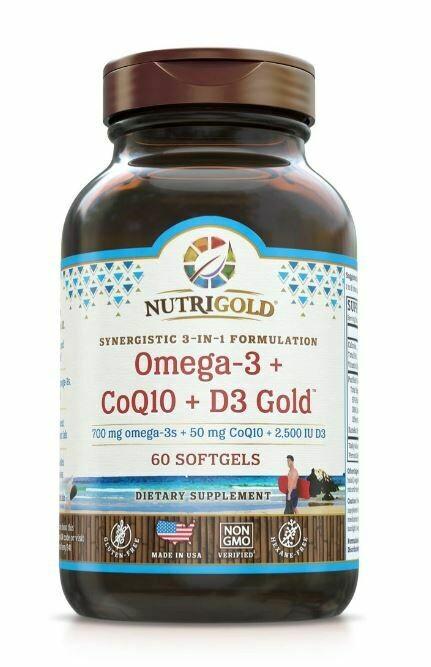 Nutrigold omega-3 CoQ10D3 Gold
