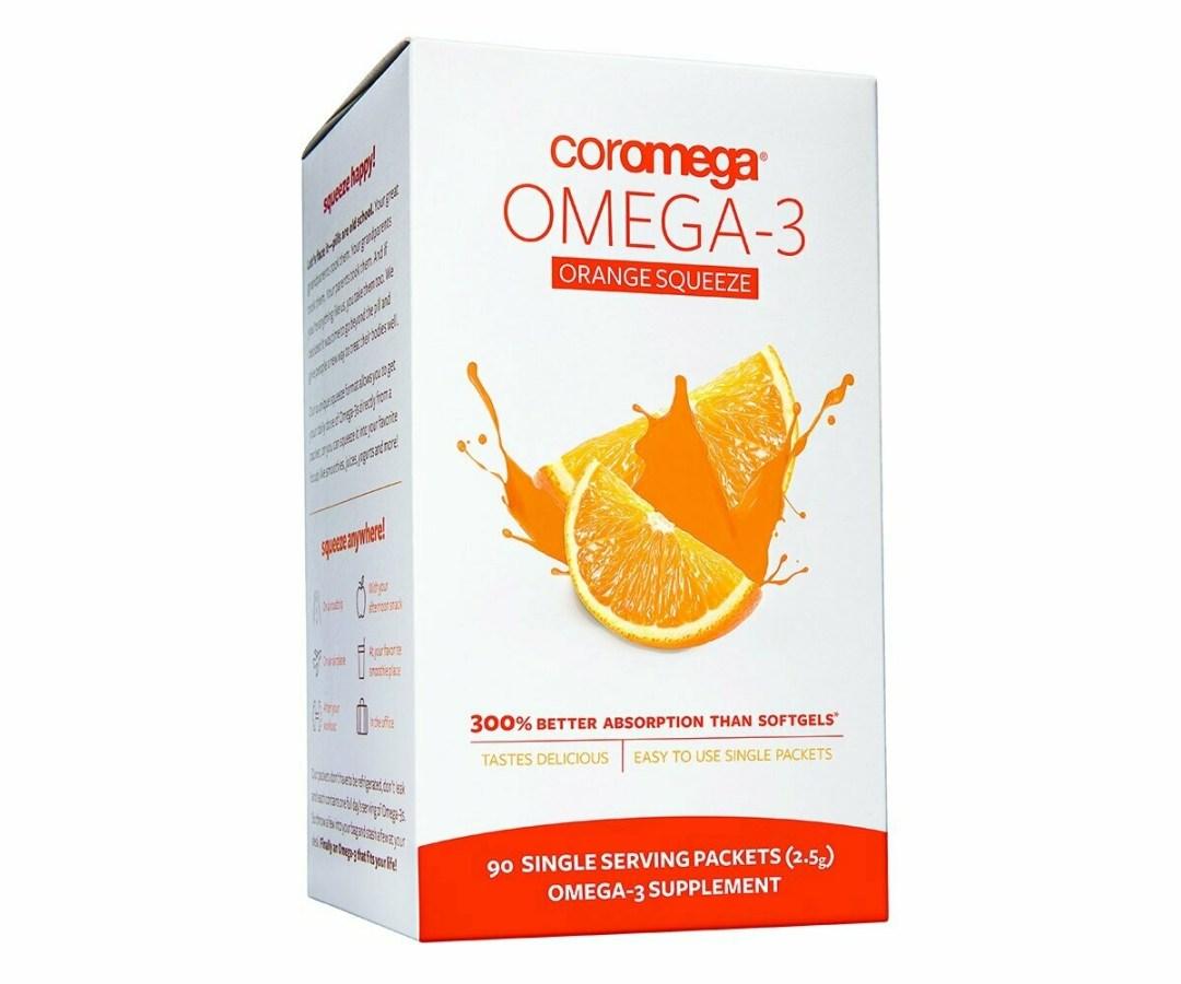Coromega Omega-3 Fish Oil Orange Squeeze 90 Packet