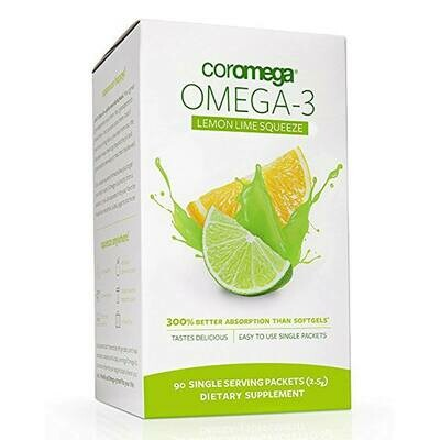 Coromega Omega - 3 Lemon Lime Squeeze 90 Servings