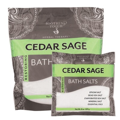 Soothing Touch Bath Salt Cedar Sage 32 Oz