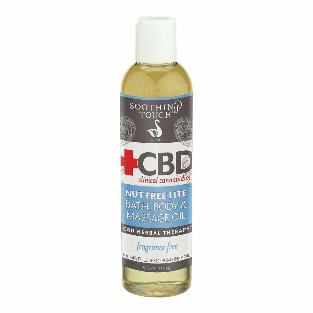Soothing Touch Cbd Bath Body Oil 8 Oz