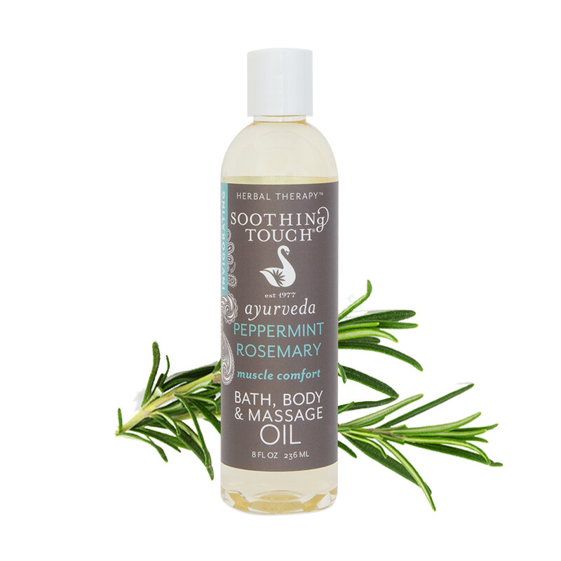 Soothing Touch- Peppermint Massage Oil 8oz