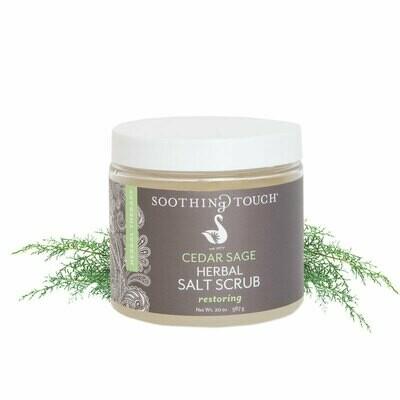 Soothing Touch Salt Scrub Cedar Sage 20oz