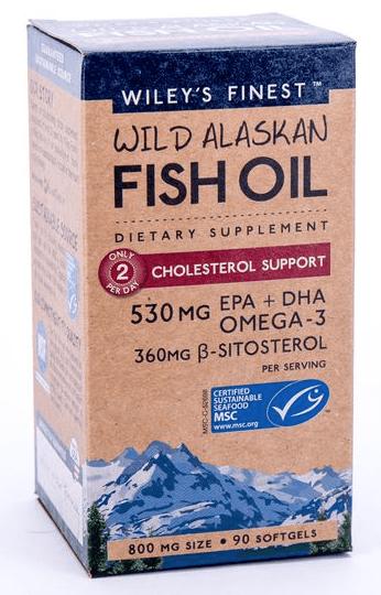 Wileys Fish Oil Cholesterol Support 530mg 90sgel