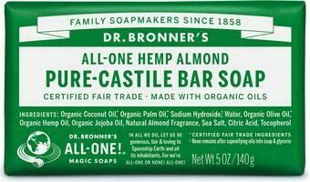 Dr. Bronner's All-One Hemp Almond Pure-Castile Bar Soap