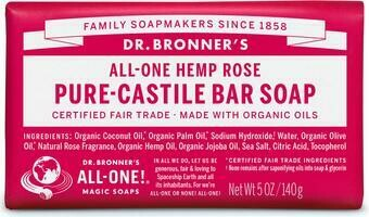 Dr. Bronner's All-One Hemp Rose Pure-Castile Bar Soap