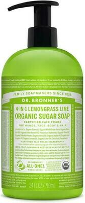 Dr. Bronner's 4-in-1Organic Sugar Soap Lemongrass Lime 24oz