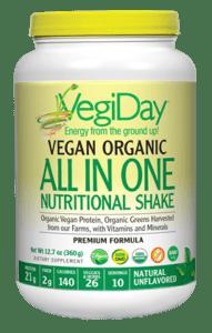 Natural Factors VegiDay Organic ALL IN ONE Natural 12.7oz