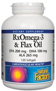 Natural Factors RXOmega3 Fish EPO Flax SG 120
