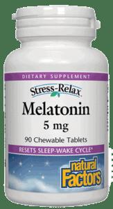 Natural Factors S-R Melatonin 5mg Tab 90