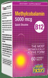 Natural Factors Vitamin B12 (Meth) 5000 Mcg Chewable Tab 60