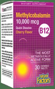 Natural Factors B12 Methylcobalamin 10mg Tab 30