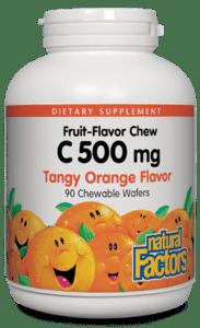 Natural Factors Vitamin C 500mg Tangy Orange Chw Tab 90