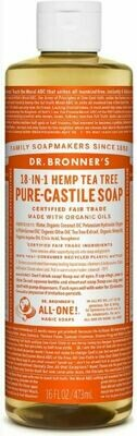 Dr. Bronner's 18-in-1 Hemp Tea Tree Pure Castile Soap 16oz