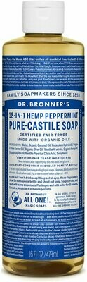 Dr. Bronner's 18-in-1 Hemp Peppermint Pure Castile Soap 16oz