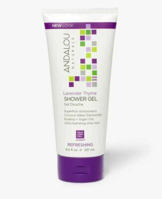 Andalou Shower Gel Lavender Thyme 8.5oz