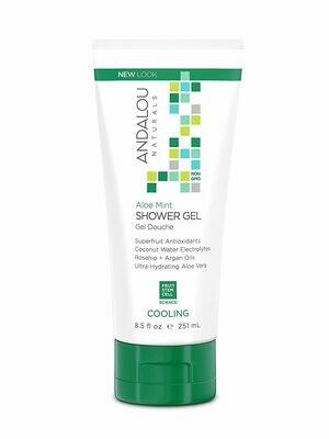 Andalou Shower Gel Aloe Mint 8.5oz