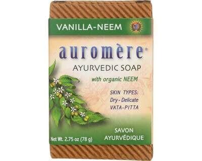 Auromere Soap Vanilla Neem 2.75oz