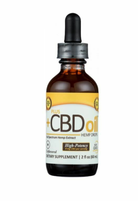 CBD Plus Gold High Potency 9mg Unflavored 2oz