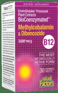 Natural Factors BioCoenzymated B12 3000mcg 30ctab
