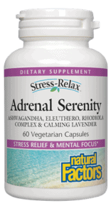 Natural Factors Adrenal Serenity 60 Veg Cap