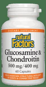 Natural Factors Glucosamine & Chondroitin 500/400mg 120caps