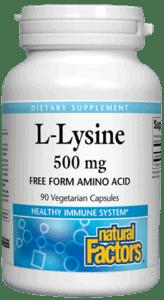 Natural Factors L-Lysine 500mg 180cap
