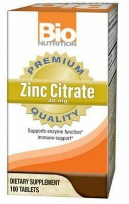 Bio Nutrition Zinc Citrate 100 Tabs
