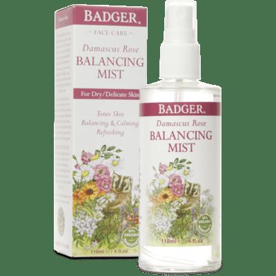 Badger Damascus Rose Balancing Mist 4oz