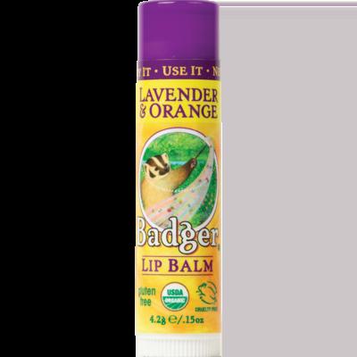 Badger Lip Balm Lavender Orange