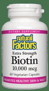 Natural Factors Extra Strength Biotin 10,000mcg 60 Caps