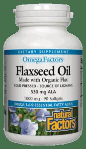 Natural Factors Flaxseed Oil 1000mg 360ct