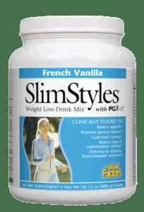 Natural Factors SlimStyles Weight Loss PGx French Vanilla 1lb