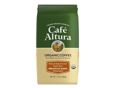 Cafe Altura Whole Bean Breakfast Blend 10oz