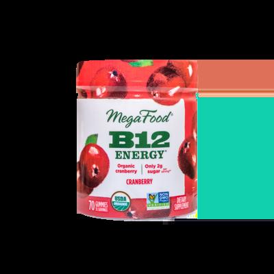 Megafood B12 Energy Cranberry Gummies 70 Count