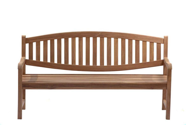 Classic curved back teak seat