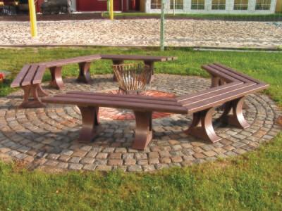 Roncade Round Bench (3m or 4m)