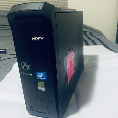2013 Gateway, Desktop Tower Computer, 4Gb Ram, 160gb HD, Black, BEST OFFER, Good Condition