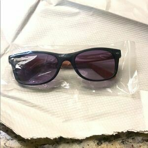 #503 Wood Frame and Tinted Sunglasses