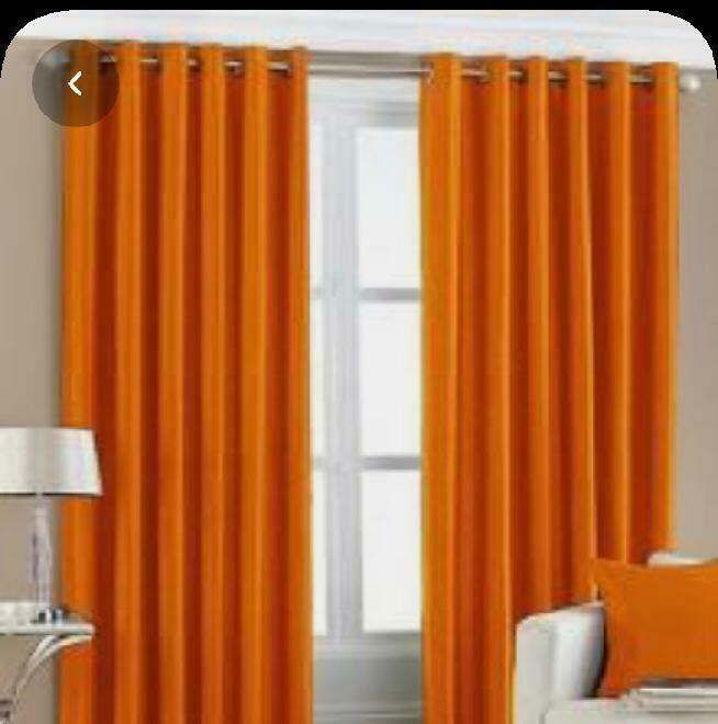rideau couleur orange unie