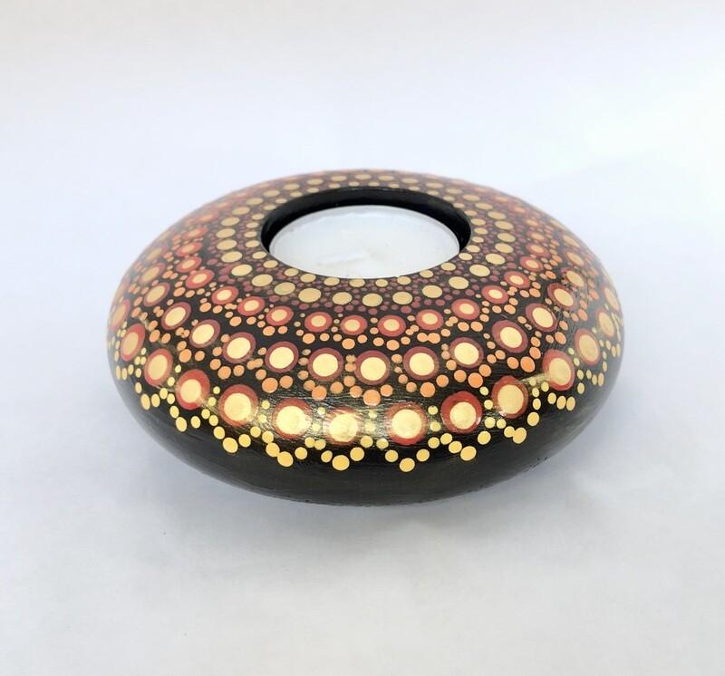 Large Round Dotted Tea light holder