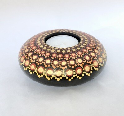 Large Round Dotted Tea light holder