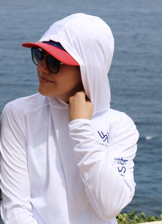 Hoody White/Navy Logo